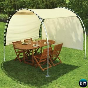 DIY Outdoor Suntracking PVC Canopy Shelter