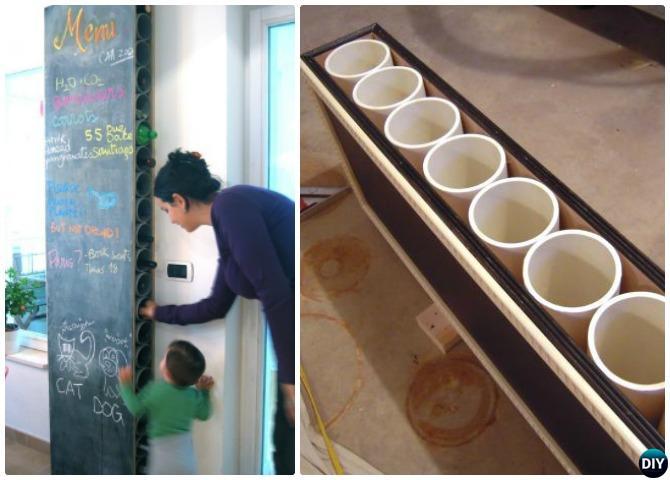 DIY PVC Chalkboard Wine Rack-20 PVC Home Organization and Storage Projects