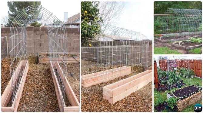 Diy Raised Garden Bed Trellis Box Combo 20 Ideas Instructions