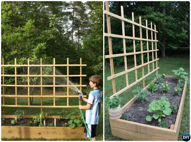 Diy Raised Garden Bed With Trellis Instruction 20 Ideas Instructions