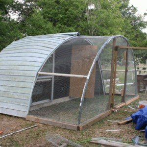 DIY Trampoline Frame Chicken Coop Inspiration