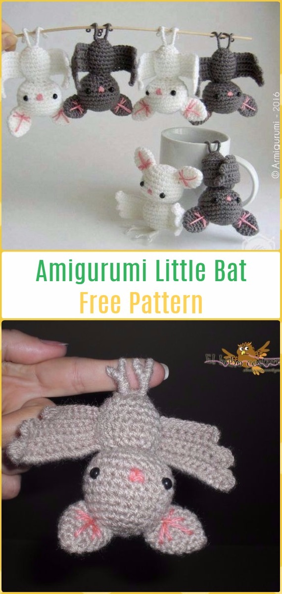 10 Adorable Amigurumi Bat Crochet Pattern Free & Paid | 1200x570