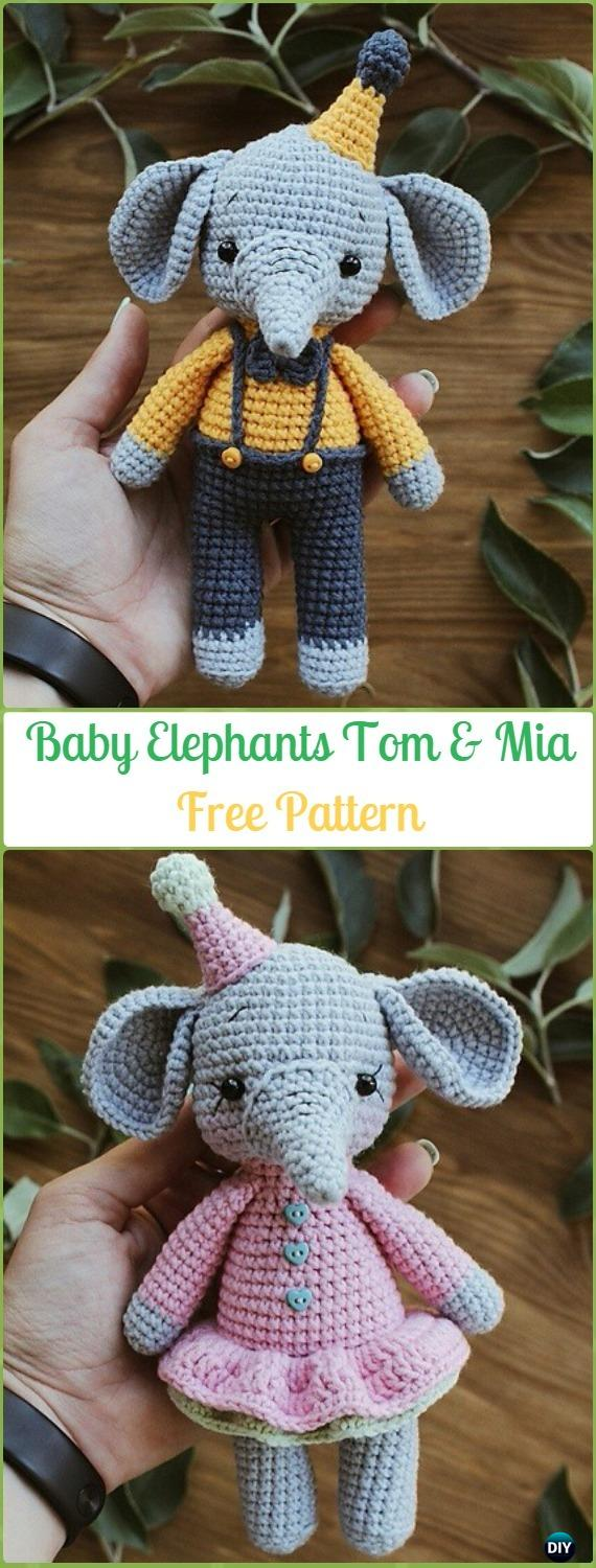 Sweet Little Elephants Free Crochet Patterns | 1500x570