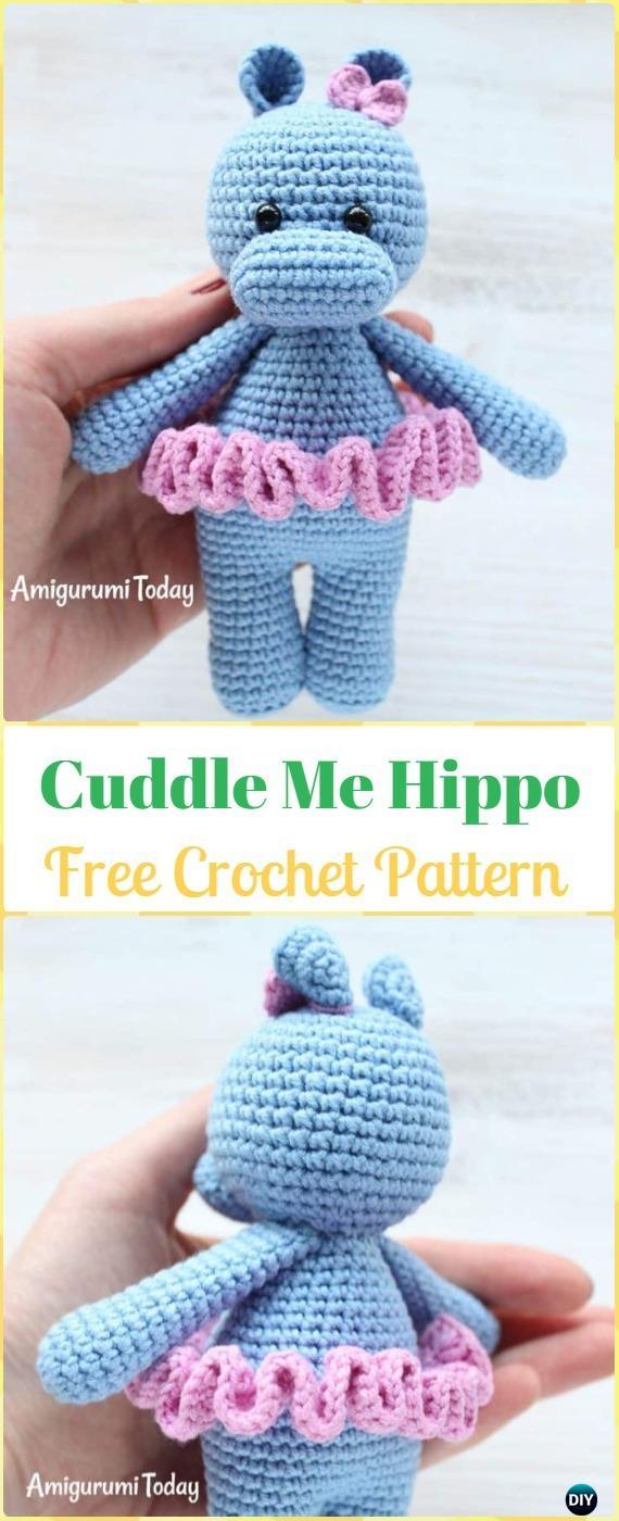 Amigurumi Small Hippo Free Crochet Pattern - Cool Creativities | 1400x570