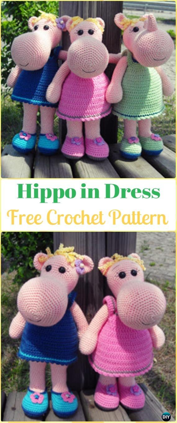 Amigurumi Hippopotamus - A Free Crochet Pattern - Grace and Yarn | 1360x570