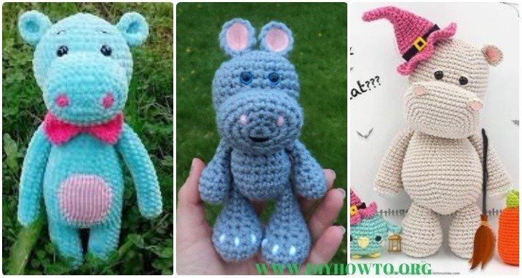 Melman - Amigurumi Hippo [Free Crochet Pattern | Nilpferd häkeln ... | 400x750