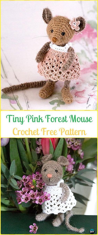 Mini Amigurumi Pug Free Crochet Pattern | móhu | 1360x570