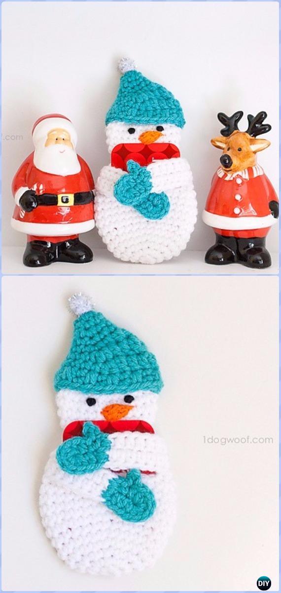 Crochet Snowman Free Crochet Pattern in Red Heart Yarns (UK terms ... | 1200x570