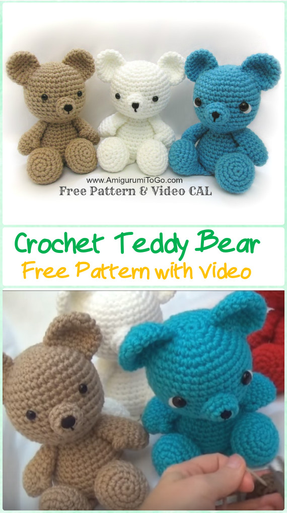 Free Crochet Teddy Bear Pattern - Lucy Kate Crochet | 1020x570