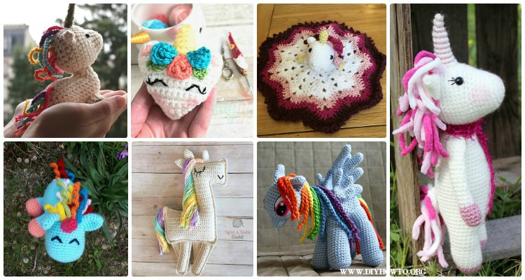 Free Crochet Unicorn Pattern - Red Ted Art - Make crafting with ... | 400x750