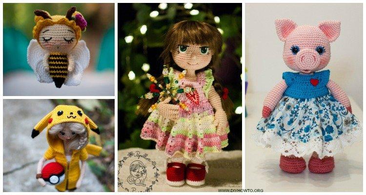 Amigurumi Princess Doll in Cape Crochet Free Pattern | 400x750