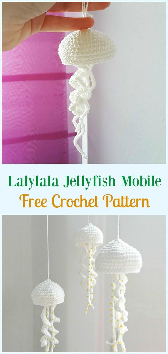 Bubbles the Jellyfish - Free amigurumi pattern | 1200x570