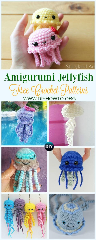 Crochet Giant Jellyfish Toy Amigurumi Free Pattern | 1500x600