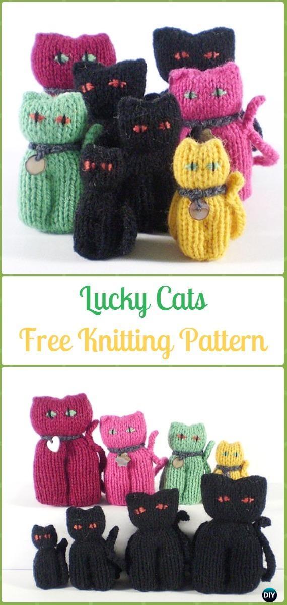 Amigurumi Tiny Window Cat Softies Toy Free Knitting Pattern - Knit Cat Toy  Softies Patterns • DIY How To | 1200x570