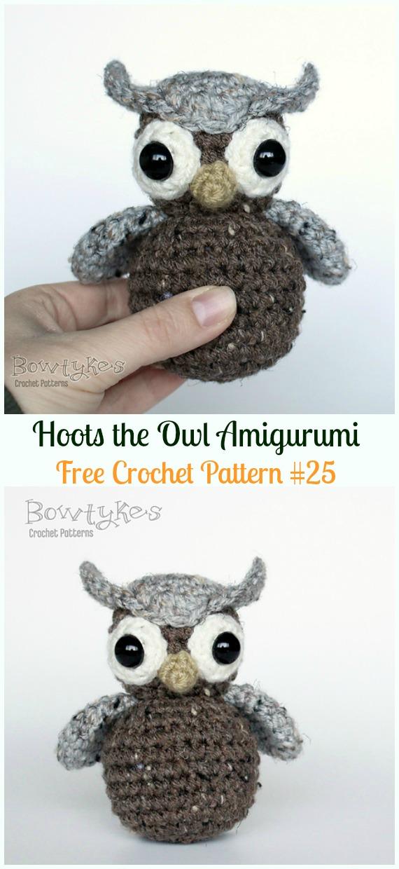 Owl amigurumi patterns - owl stuffed animal | 1240x570
