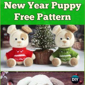 DIY Crochet Amigurumi Puppy Dog Stuffed Toy Free Patterns | 300x300