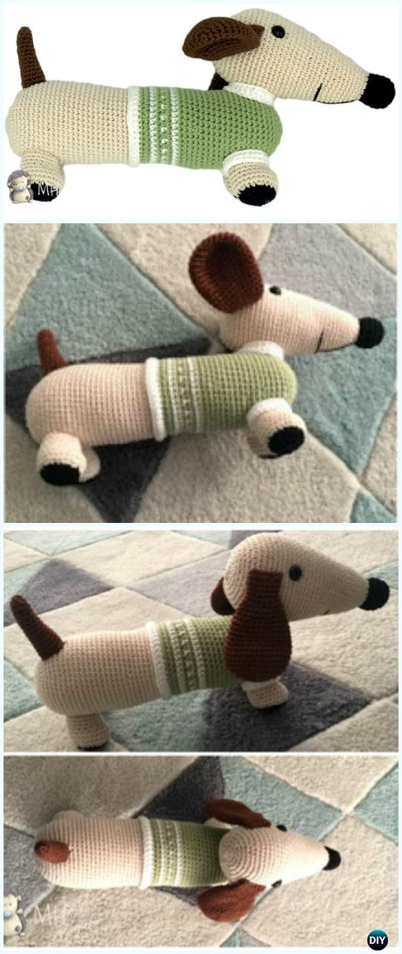 Amigurumi dog in sweater crochet pattern | Breien en haken, Haken ... | 1350x570
