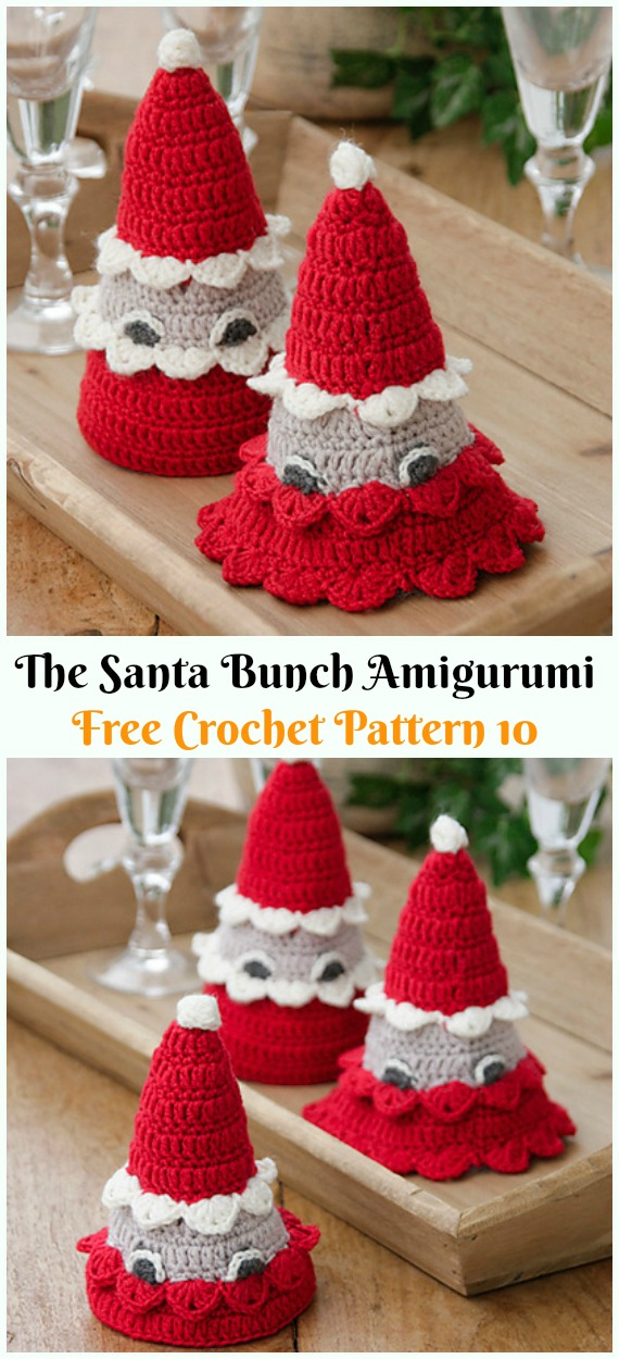 PATTERN Cuddle-Sized Santa Claus & Mrs. Claus Amigurumi ... | 1250x570