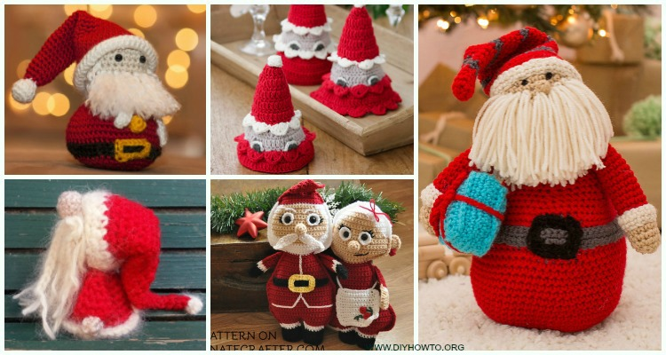 Free Crochet Pattern for a Santa Claus Amigurumi ⋆ Crochet Kingdom | 400x750