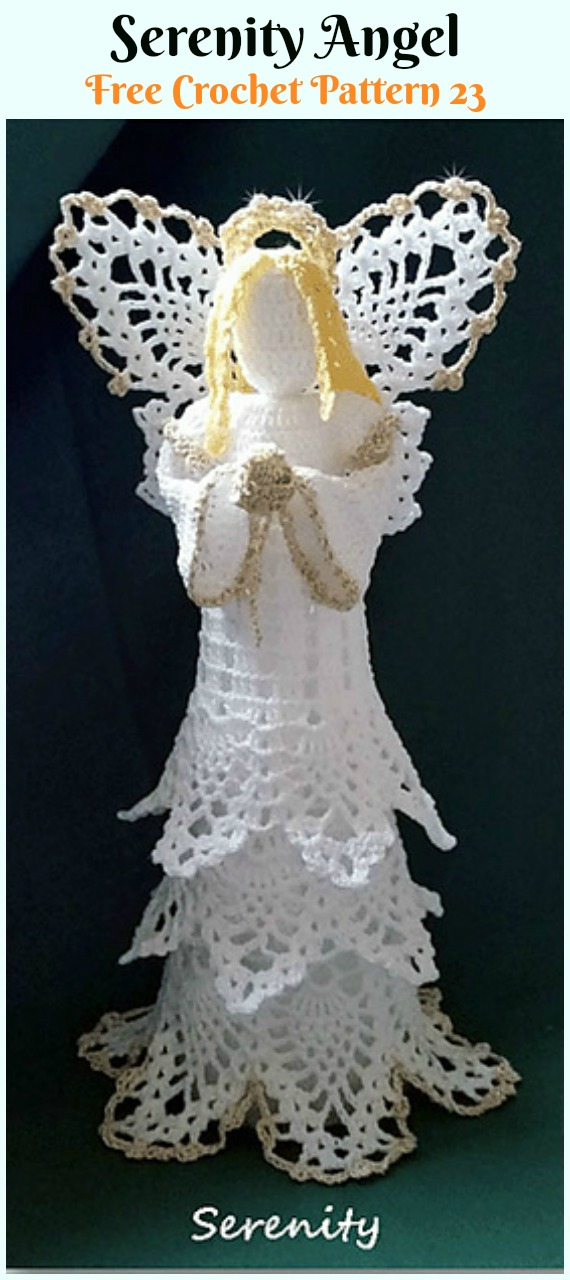 Christmas Angel Free Crochet Pattern ⋆ Crochet Kingdom | 1280x570