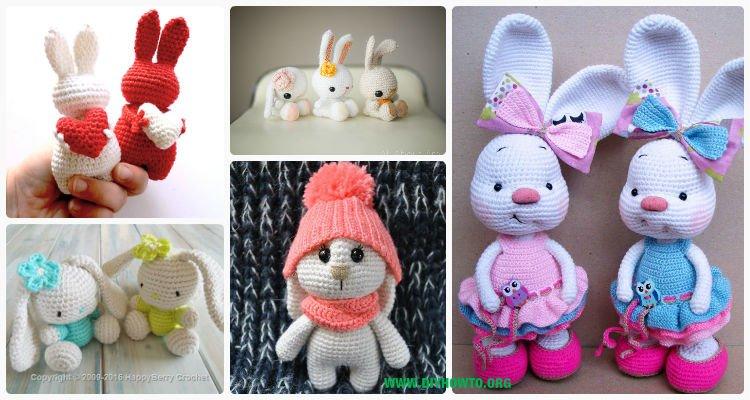 Flora the Bunny Rabbit amigurumi pattern | hookabee | 400x750