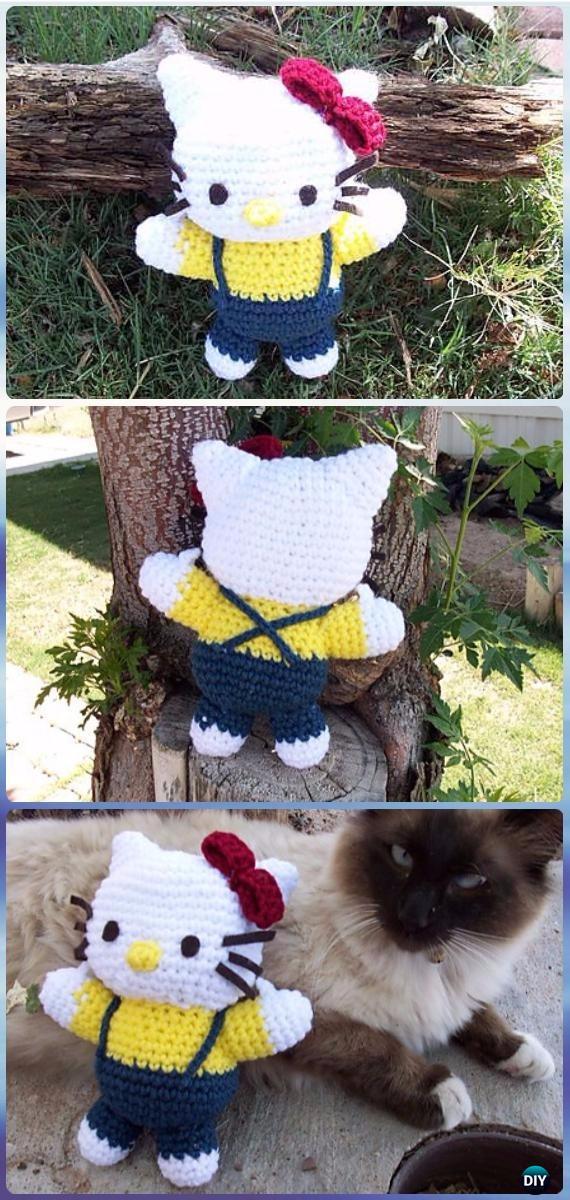 Big Hello Kitty Amigurumi Free Pattern | Πλεκτές κούκλες, Κούκλες ... | 1200x570
