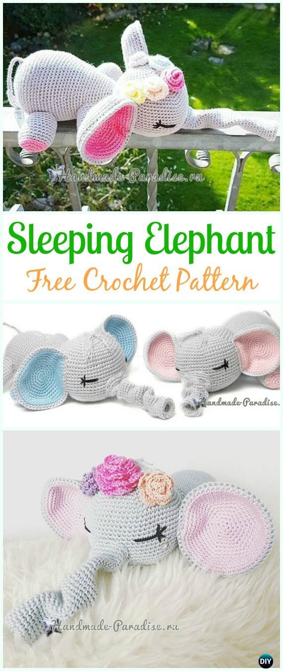 Baby Knitting Patterns Crochet Elephant Plush Toy Amigurumi Free ... | 1350x570