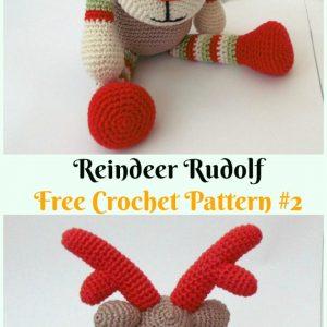King Cole RUDOLPH Reindeer Toy Yarn Pack Crochet Kit   300x300