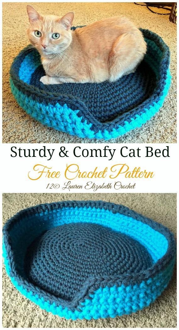 Crochet Cat Bed – Super Big Chunky Yarn » Loganberry Handmade | 1050x570