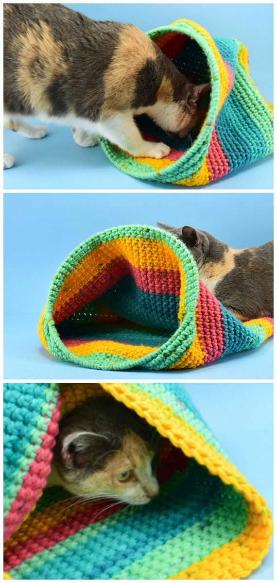 10 FREE Crochet Patterns For Your Cat | 1200x570