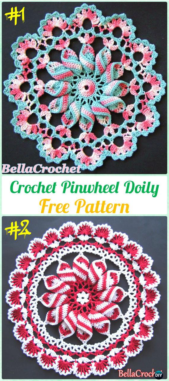 Crochet Pinwheel Doily Free Pattern - Crochet Doily Free Patterns