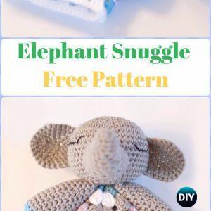 Topsy's baby snuggle crochet | Crochet elephant, Elephant lovey ... | 300x300