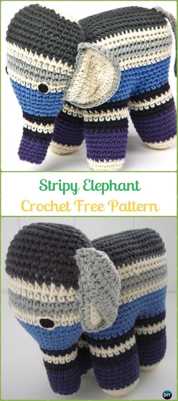 Olivier pattern by Rohn Strong | Crochet elephant pattern, Diy ... | 1280x570