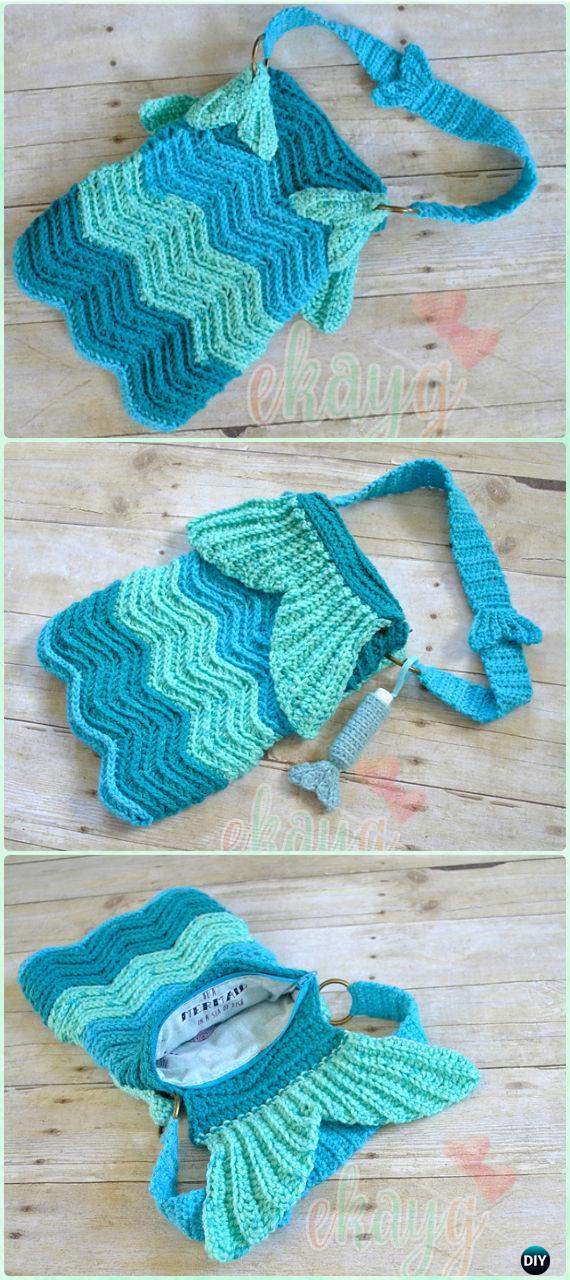 Crochet Kids Bags Free Patterns & Instructions