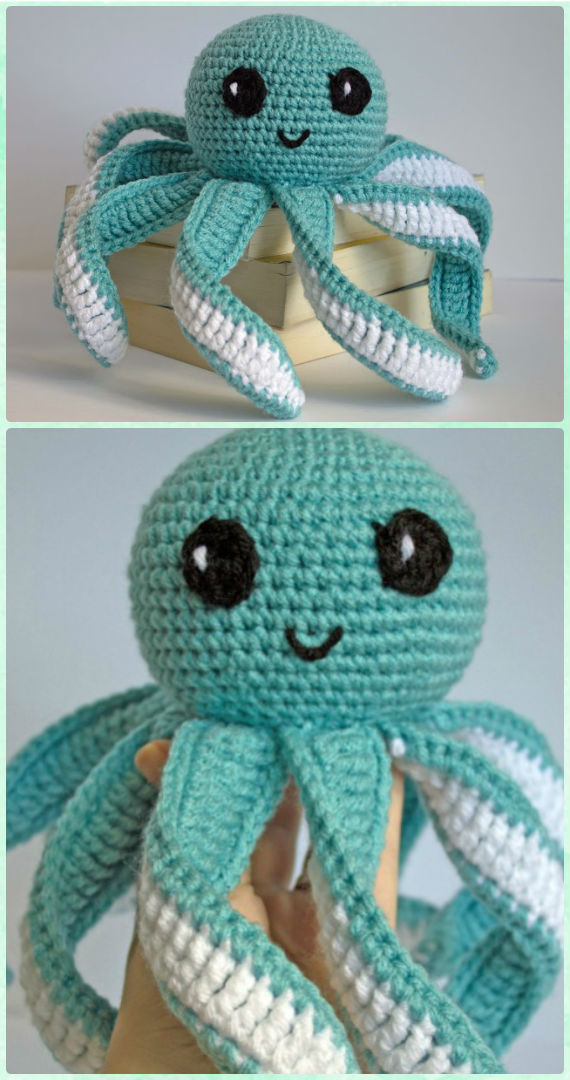 How To Crochet Amigurumi Octopus | Croby Patterns - YouTube | 1080x570
