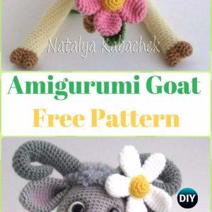 Crochet Sheep Keychain Anigurumi Free Patterns | 300x300