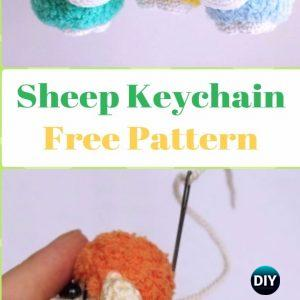 Crochet Amigurumi Pattern : Sheep keychain crochet tutorial | Etsy | 300x300