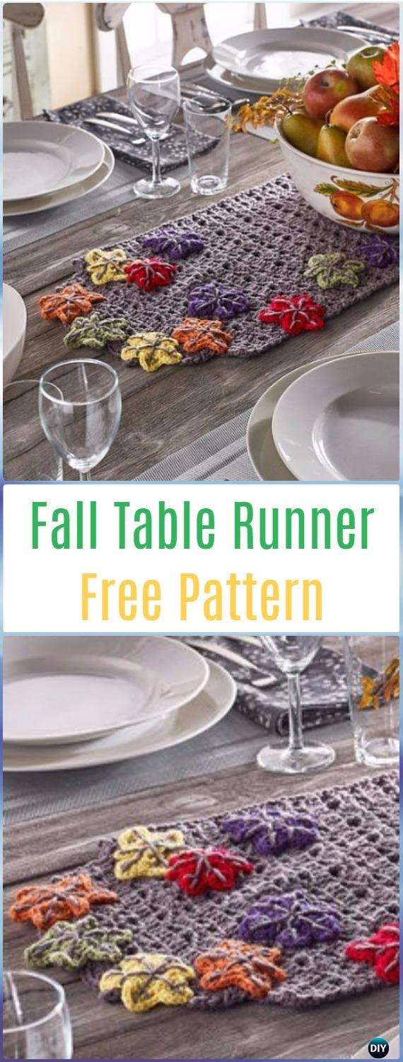 Crochet Fall Table Runner Free Pattern- Crochet Table Runner Free Patterns
