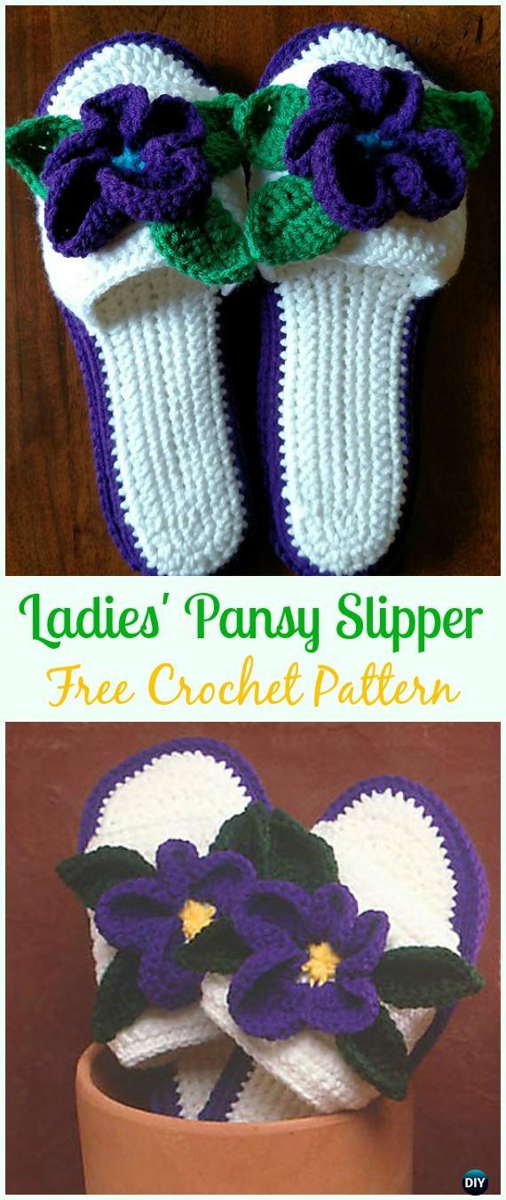 Crochet Women Slippers Free Patterns DIY Instructions