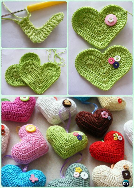 Free Crochet Heart Pattern | Shiny Happy World | 800x570