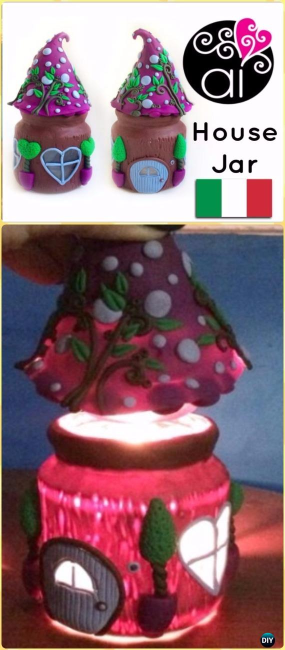 DIY Polymer Clay Fairy House Jar Tutorial Vdieo - DIY Fairy Light Projects & Instructions