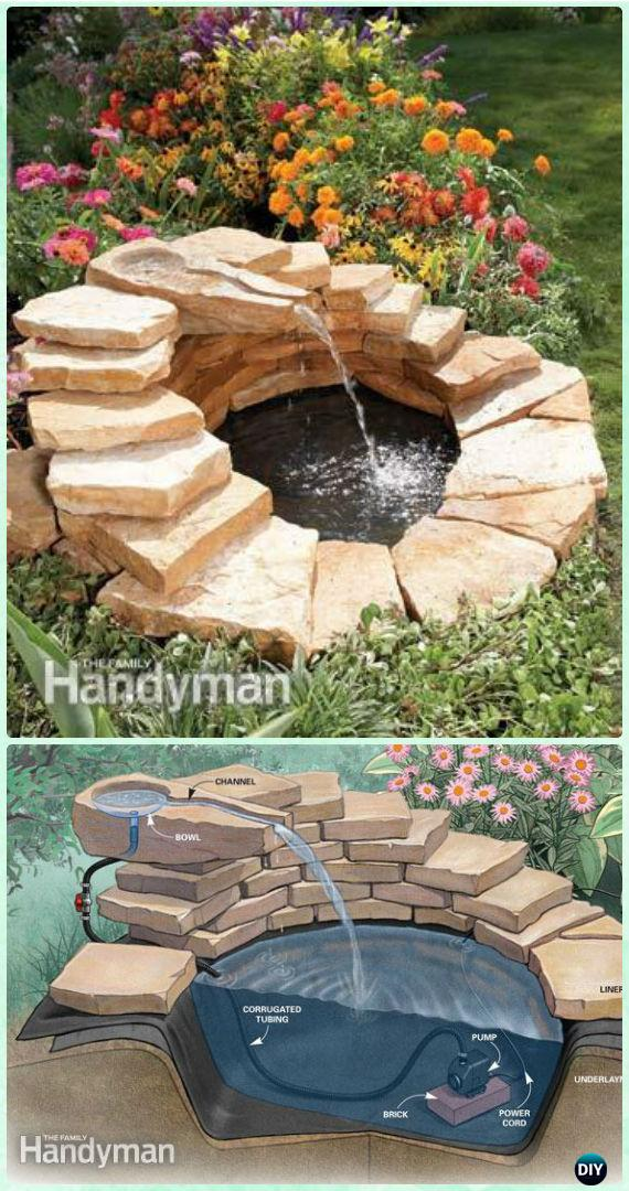 DIY Garden Fountain Landscaping Ideas & Projects with ... on Home Garden Fountain Design id=82717