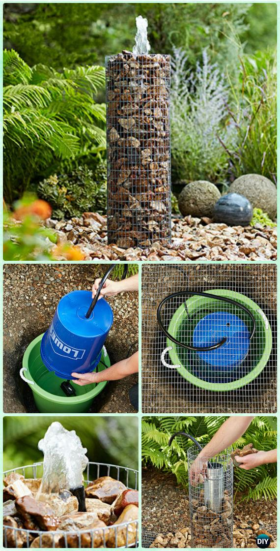 DIY Garden Fountain Landscaping Ideas & Projects with ... on Home Garden Fountain Design id=16216