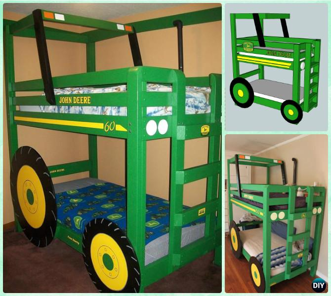 Diy Tractor Toddler Bunk Beds Instructions Diy Kids Bunk Bed Free Plans Diy How To
