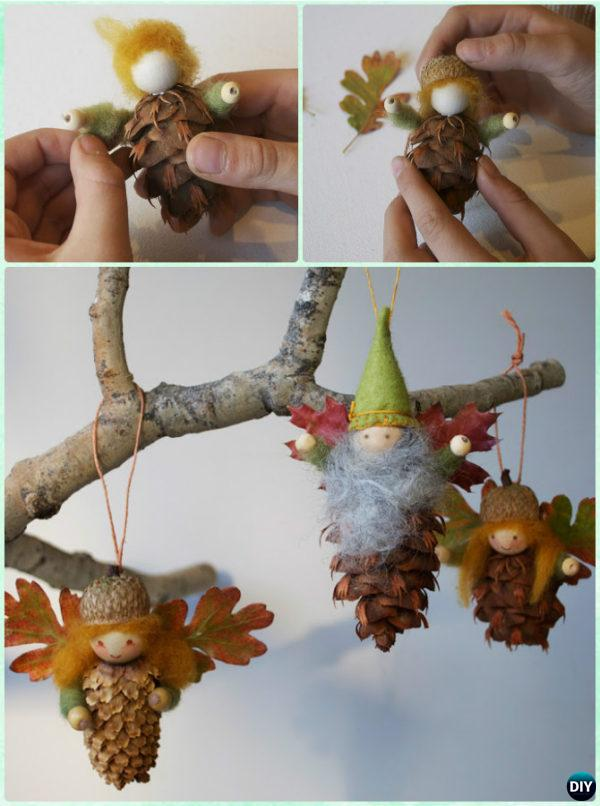 Diy Pine Cone Fairy Ornament Instruction Kids Craft Ideas Projects