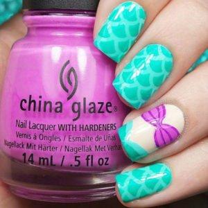 DIY Mermaid Nails Art Manicure