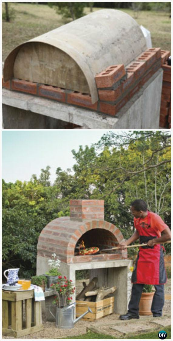 Diy Brick Pizza Oven Instructions Outdoor Ideas Projects