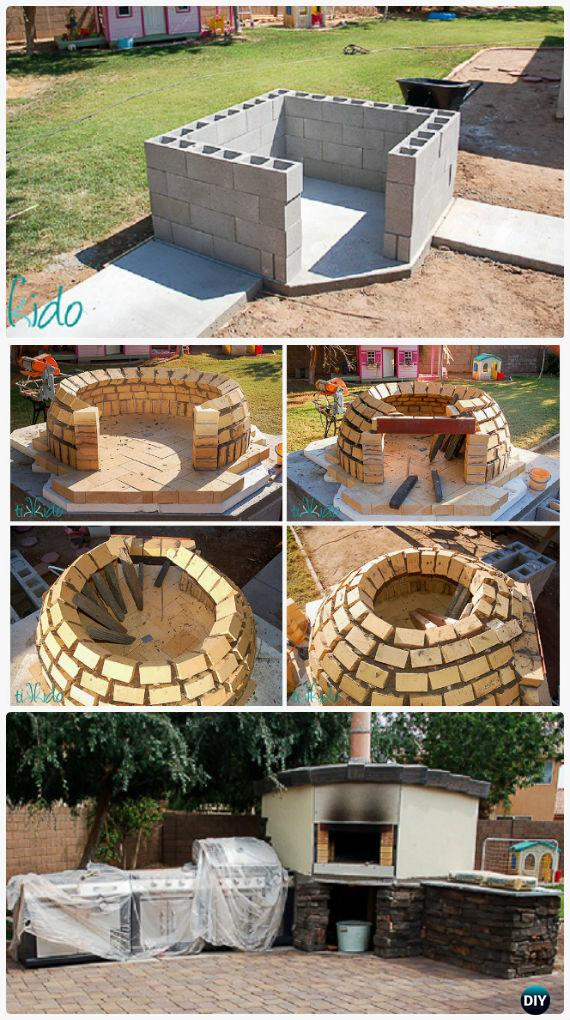 Diy Concrete Wood Fired Pizza Oven Instructions Outdoor Ideas Projects