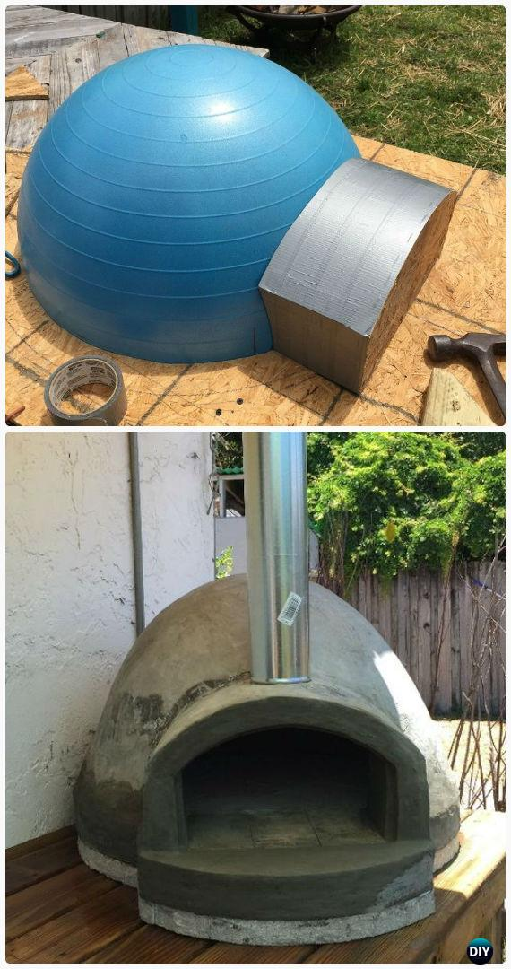 Diy Exercise Ball Wood Fired Pizza Oven Instructions Outdoor Ideas Projects