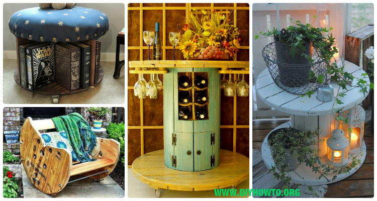 Diy Recycled Wood Wire Spool Furniture Ideas Projects Instructions